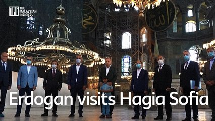 Turkey's President Erdogan visits Hagia Sofia after reconversion to mosque