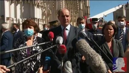 Déclaration de Jean Castex suite à l'incendie de la cathédrale de Nantes