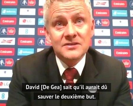 """FA Cup - Solskjaer : """"De Gea aurait du sauver le deuxième but"""""""