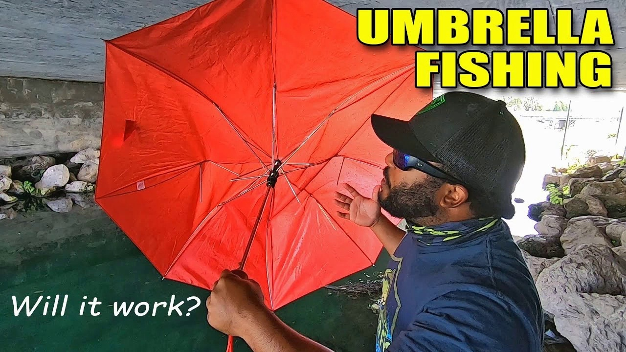 UMBRELLA Fishing Challenge DIY  Will it Work_ MUST WATCH!