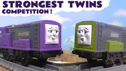 Thomas the Tank Engine Strongest Twins Challenge with the Funny Funlings in this Family Friendly Full Episode English Toy Story for Kids from Kid Friendly Family Channel Toy Trains 4U