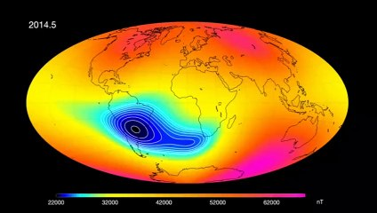 Anomaly In Earth's Magnetic Field Appears To Be Splitting In Two