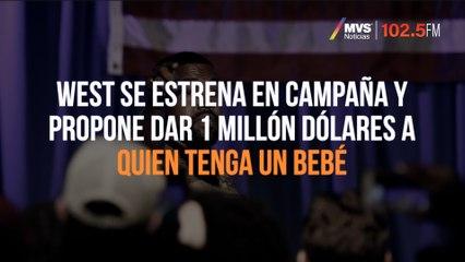 West se estrena en campaña y propone dar 1 millón dólares a quien tenga un bebé