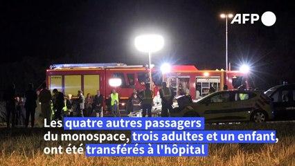 Drame sur l'A7: cinq enfants tués dans l'accident d'un monospace