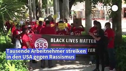Tausende US-Arbeitnehmer im Streik gegen Rassismus