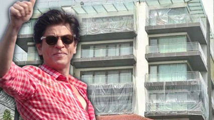 Shahrukh Khan Banglow Covered with Plastic