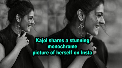 Kajol shares a stunning monochrome picture of herself on Insta