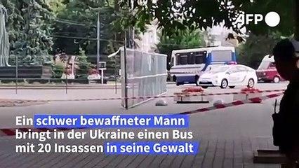 Ukraine: Bewaffneter kidnappt Bus mit 20 Insassen