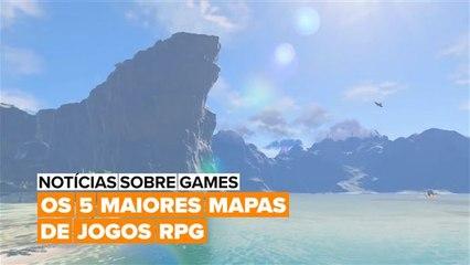 Você consegue adivinhar quais jogos de RPG de mundo aberto têm os maiores mapas?