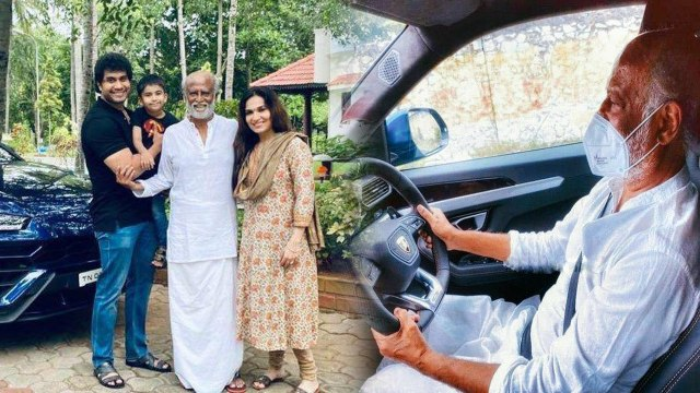 Rajinikanth Royal Look in Lamborghini Goes Viral