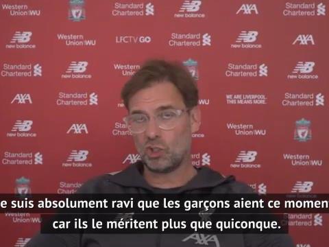 """Liverpool - Klopp : """"Lever le trophée, c'est comme Noël"""""""