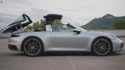 The new Porsche 911 Targa 4 Design in Dolomite Silver