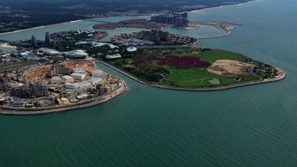 China prepares to open Hainan Ocean Flower Island, the world's largest man-made tourist isle