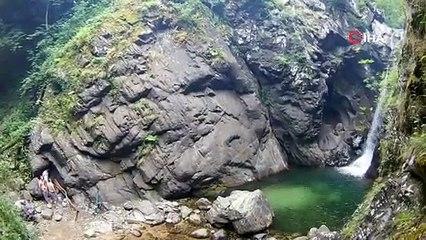 Bursalılar bu doğal havuzlarda serinliyor