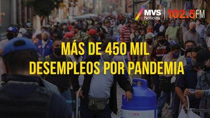 Más de 450 mil desempleos por pandemia