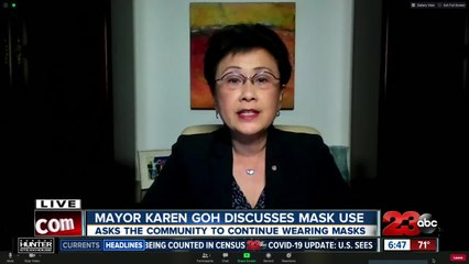 Mayor Karen Goh on masks