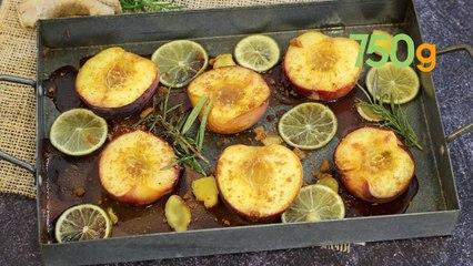 Recettes des pêches rôties au miel, gingembre et romarin - 750g