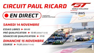 LIVE - PAUL RICARD - GT WORLD CHALLENGE EUROPE - 2020- FRENCH.