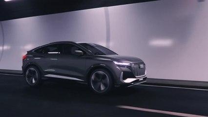 The new Audi Q4 Sportback e-tron Driving Video