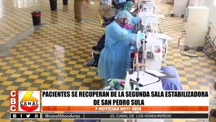 Pacientes se recuperan en la segunda sala estabilizadora en San Pedro Sula