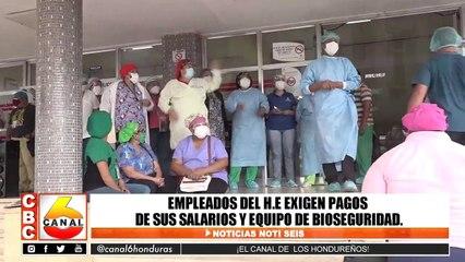 Empleados del Hospital Escuela exigen pago de salario y equipo de bioseguridad