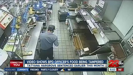 Video shows BPD officer's food being tampered with