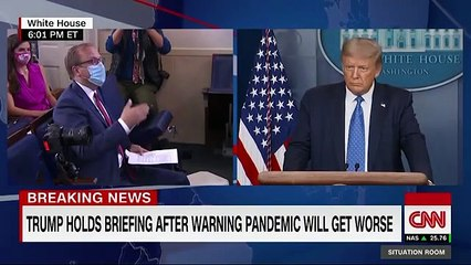 Reporter asks Trump if he's comfortable sending son to school