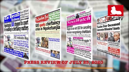 CAMEROONIAN PRESS REVIEW OF JULY 23, 2020