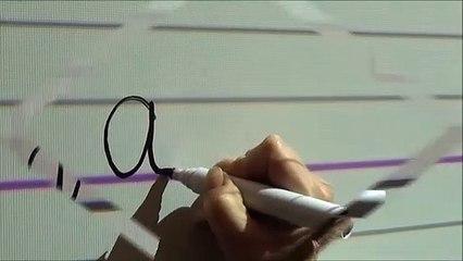 Le tracé des lettres en écriture cursive