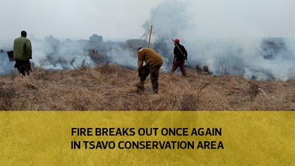 Fire breaks out once again at Tsavo Conservation area