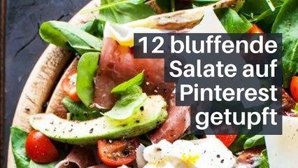 12 bluffende Salate auf Pinterest getupft