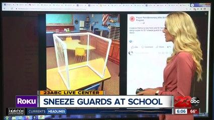 Sneeze guards at school