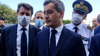 Gérald Darmanin en visite surprise à Nice aux Moulins