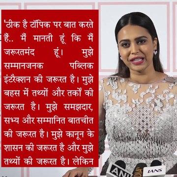 swara bhaskar slams kangana ranaut called him freedom fighter says 1947 main kangana ne azaadi dilwai