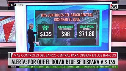 Alarma por escalada del dólar blue: $135