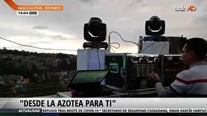 Monta equipo de sonido en su azotea en Naucalpan