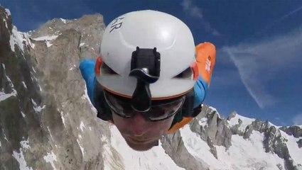 Athletes Finish 2 Day Hike With Exhilarating Wingsuit BASE Jump