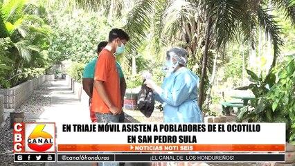 En triaje móvil asisten a pobladores de El Ocotillo en San Pedro Sula