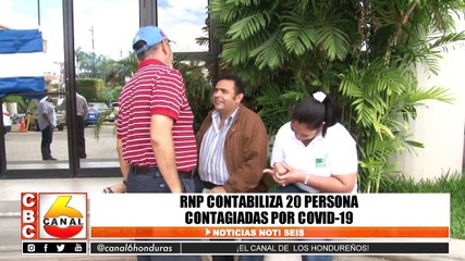 RNP contabiliza 20 personas contagiadas por Covid-19