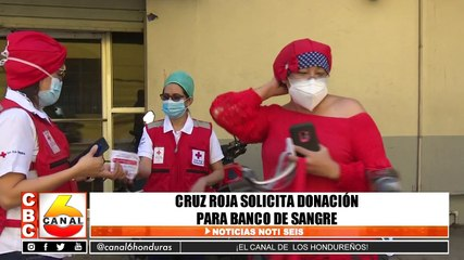 Cruz roja solicita donación para banco de sangre