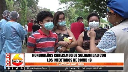 Hondureños carecemos de solidaridad con los infectados de Covid-19
