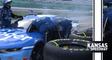 Stenhouse Jr.'s car catches fire at Kansas Speedway