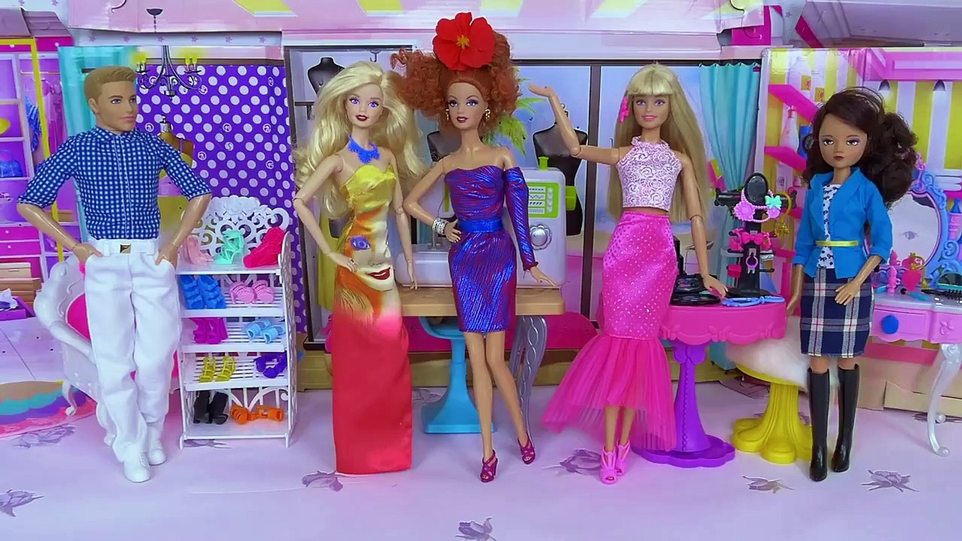Barbie Girl and Ken Baby Dolls Fashion Beauty Salon!