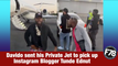 F78NEWS: Davido sent his Private Jet to pick up Instagram Blogger Tunde Ednut. #Davido #TundeEdnut