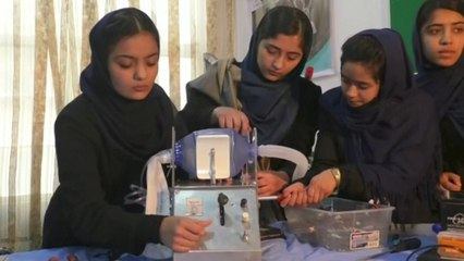 Afghan Girls Robotics Team Builds Live-Saving Ventilator