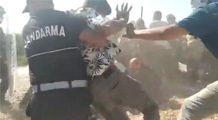 Jandarma'dan köylülere tepki çeken müdahale şekli