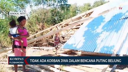 Bencana Puting Beliung Robohkan Rumah Warga di Sikka