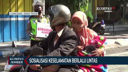 Operasi Patuh Semeru, Polisi Sosialisasi Protokol Kesehatan