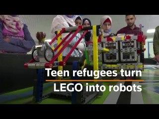 Teenage refugees develop lego-based robots
