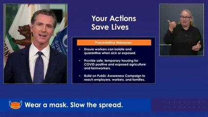 LIVE: California Governor Gavin Newsom provides a COVID-19 update